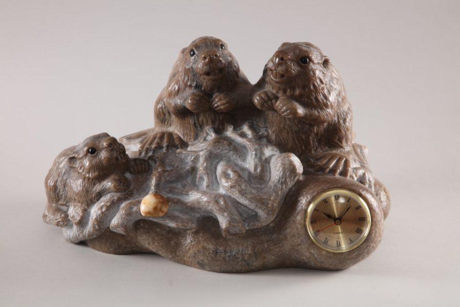 Скульптуры из ангидрита и кальцита: Бобровая плотина