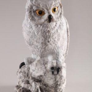 Скульптуры из ангидрита и кальцита: Филин