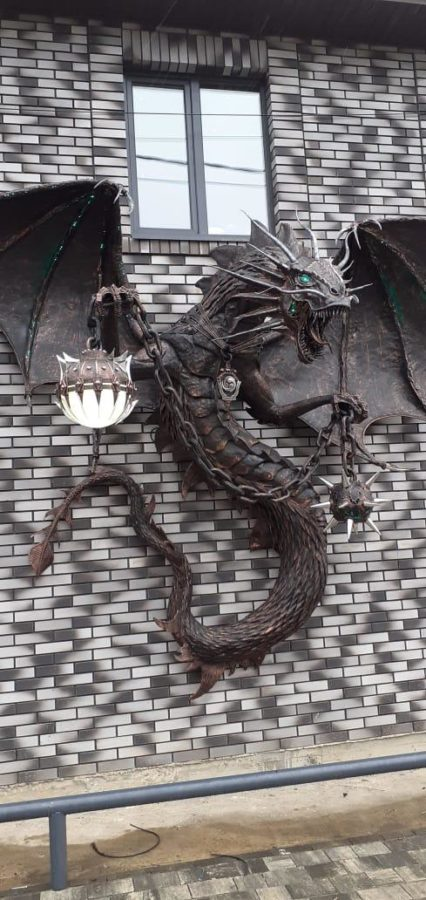 Скульптура из металла: Дракон