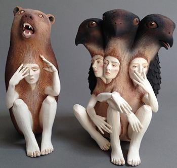 Керамические статуи