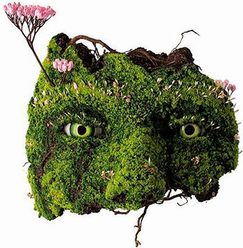 Фигуры из растений