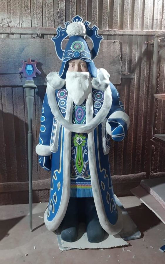 Скульптура: Дед Мороз для Ханты-Мансийска