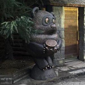 Скульптура из бронзы: Винни-Пух