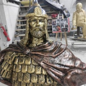 Скульптура из искусственного: Бюст Александра Невского