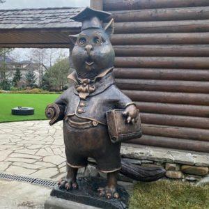 Скульптура из бронзы: Кот ученый