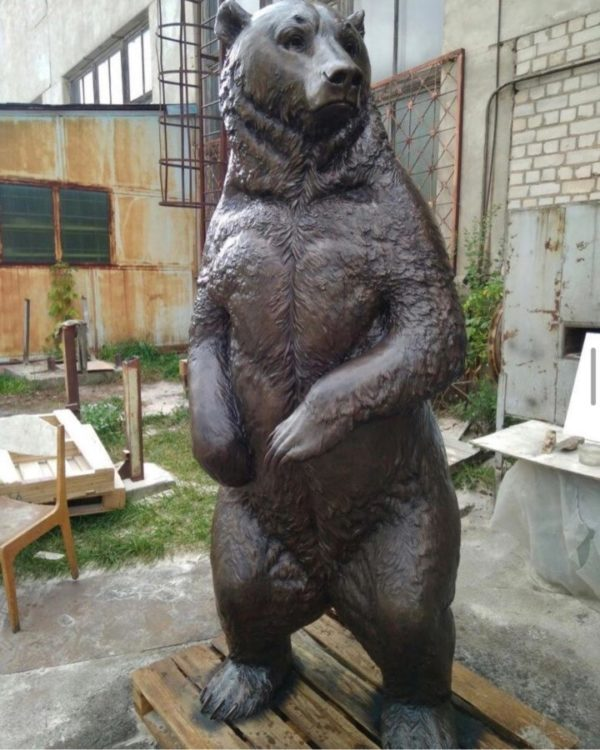 Бронзовая скульптура: Медведь