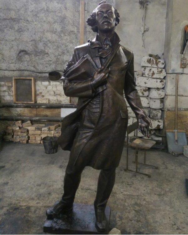Бронзовая скульптура: Андрей Белый