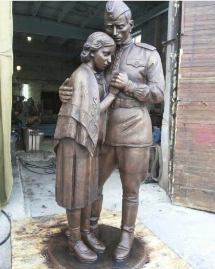 """Бронзовая скульптура: Памятник """"Прощание с солдатом"""""""