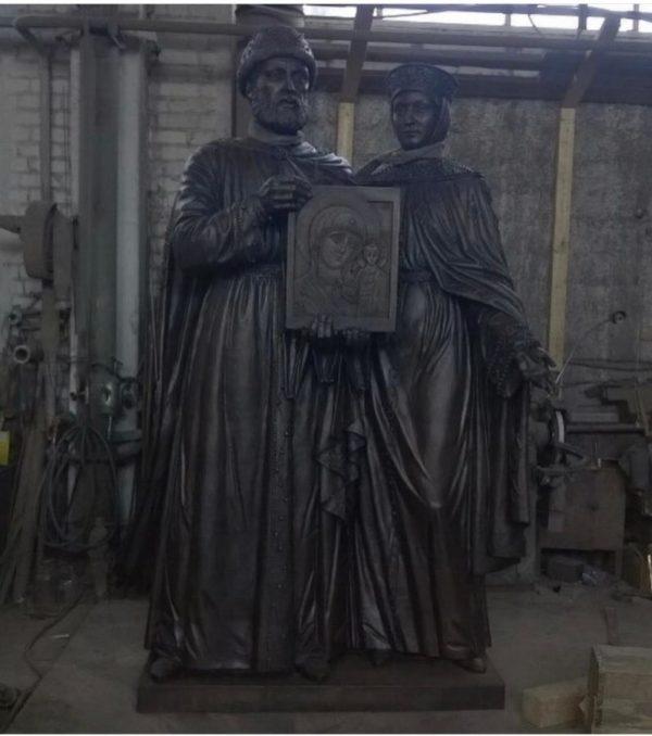 Бронзовая скульптура:  Парная скульптура святых