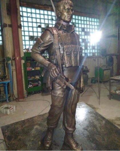 Бронзовая скульптура: Памятник воинам Интернационалистам