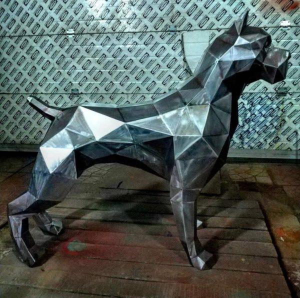 Скульптура: Собака из стали без покраски