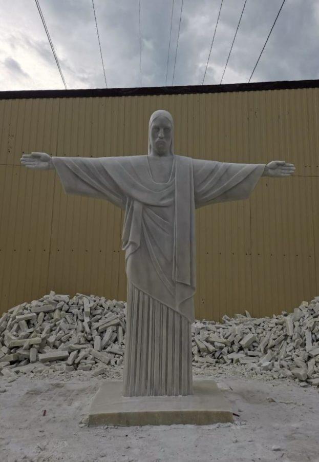 """Скульптура из мрамора """"Христос Искупитель"""". Реплика статуи Христа"""