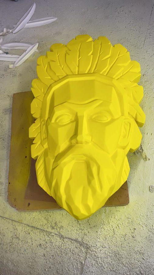 Скульптура: Полигональный портрет Циолковского К. Э.