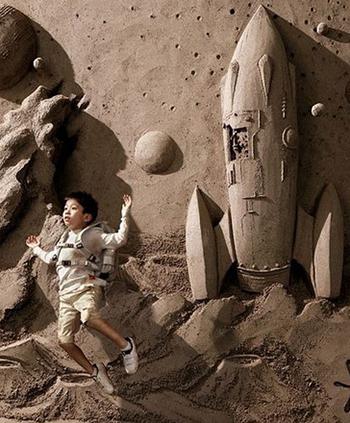 Красивые песочные статуи